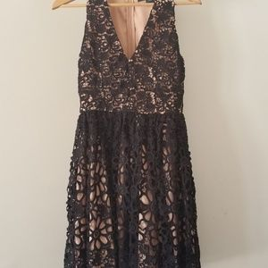 French Connection Lace Fit and Flare Dress